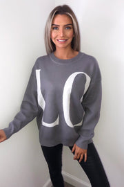 Sharon Grey LOVE Knitted Jumper