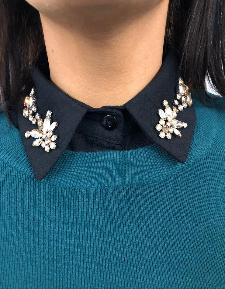 Milly Black Jewelled Bib Collar