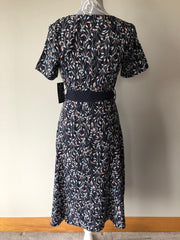 Freya Navy Floral Printed Midi Dress