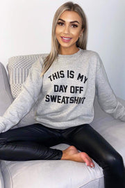 Hallie Grey Day Off Sweatshirt