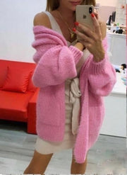 Riley Pink Oversized Pocket Cardigan
