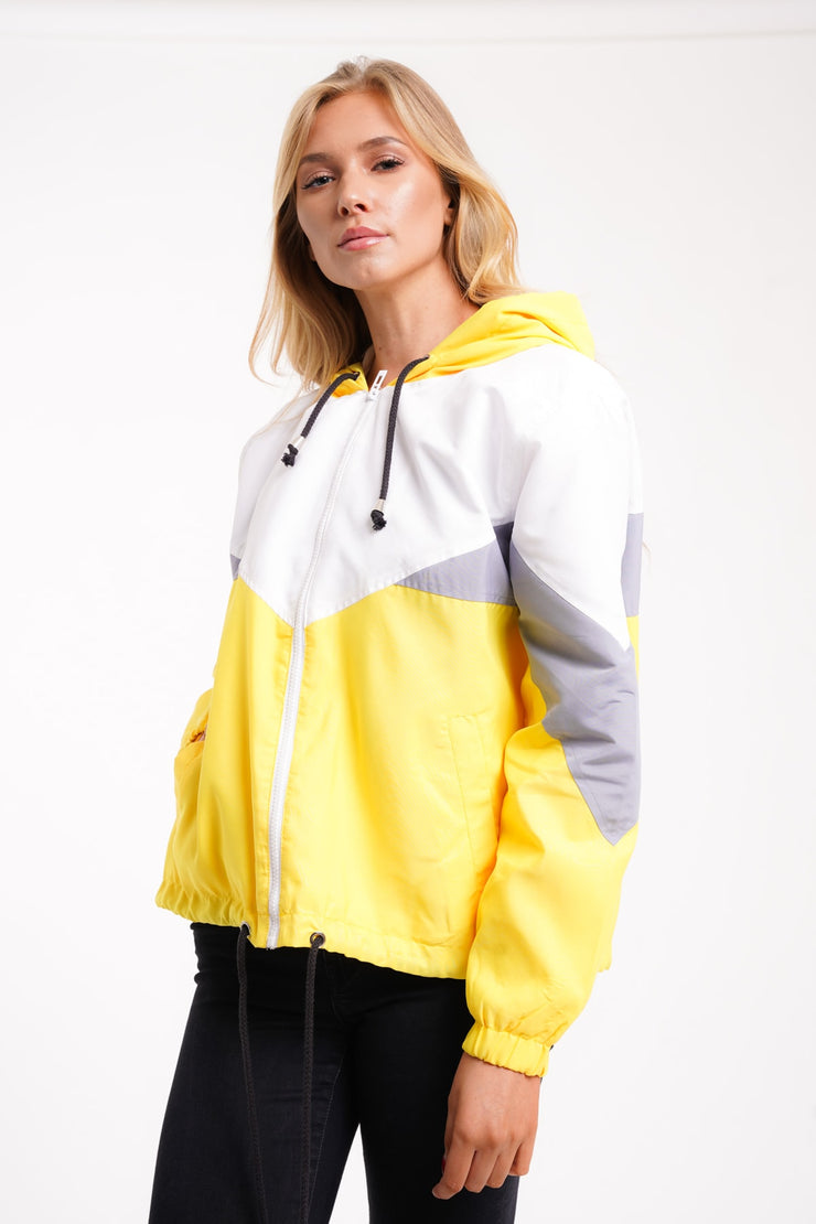 Millie Yellow Colour Block Lightweight Jacket