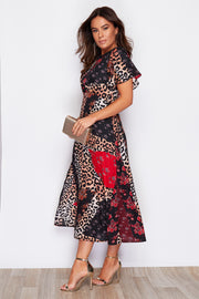 Stella Multi Animal Print Midi Dress