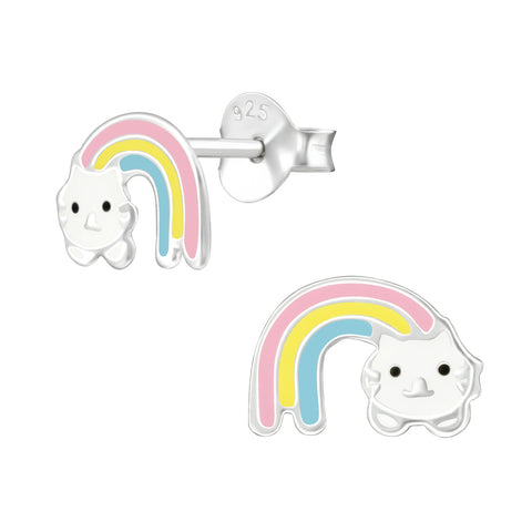 "Oorbellen ""Rainbow Cat"""