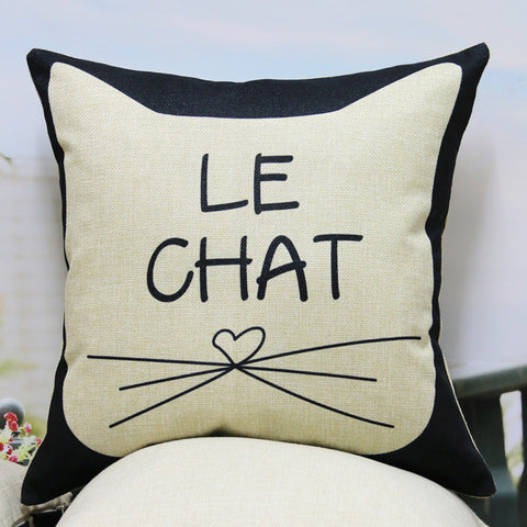 "Kussenhoes ""Le Chat"""