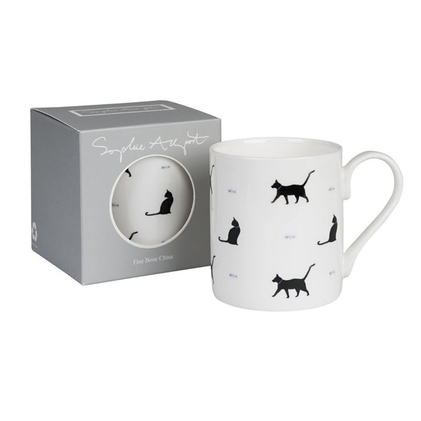 "Koffiemok ""Black Cat & Bone"" (wit)"