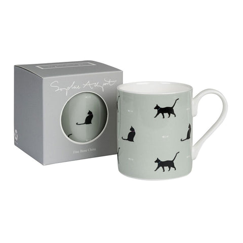 "Koffiemok ""Black Cat & Bone"" (groen)"