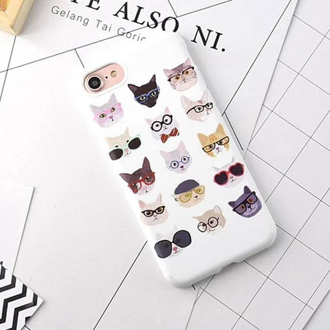 "iPhone hoesje ""Hipster Cats"""