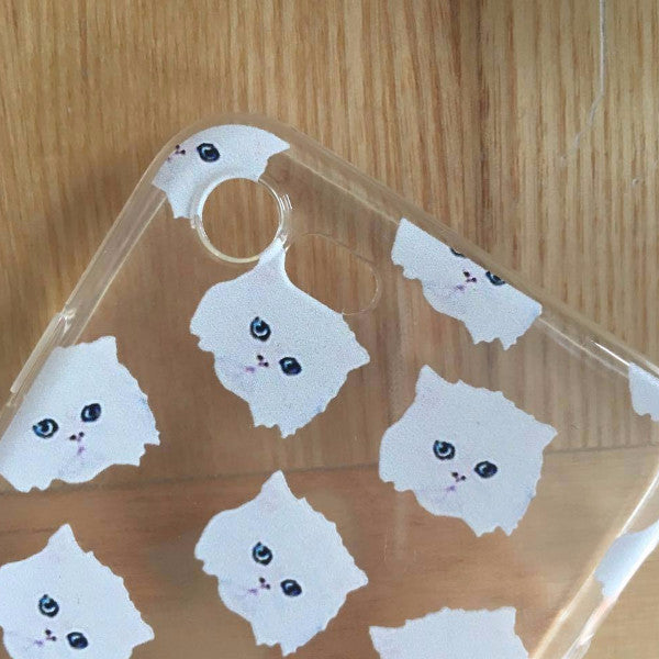 "iPhone hoesje ""White Cats"""