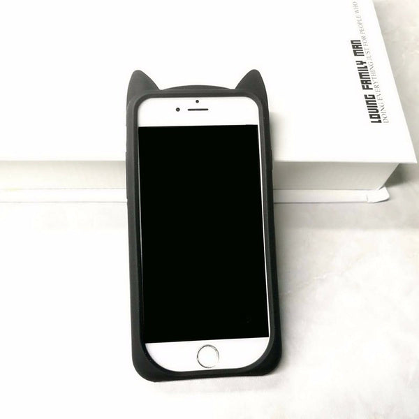 "iPhone hoesje ""Cat Ears"" (zwart)"
