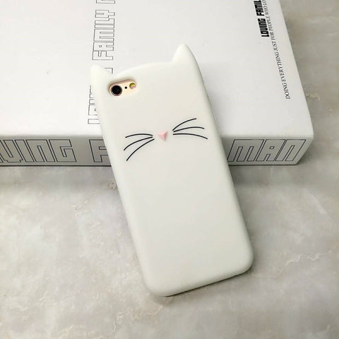 "iPhone hoesje ""Cat Ears"" (wit)"