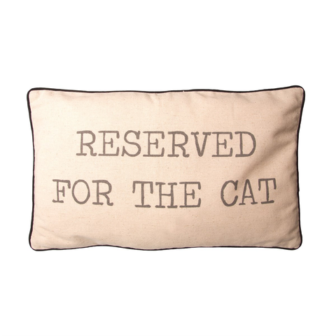 "Rechthoekig kussen ""Reserved for the cat"""