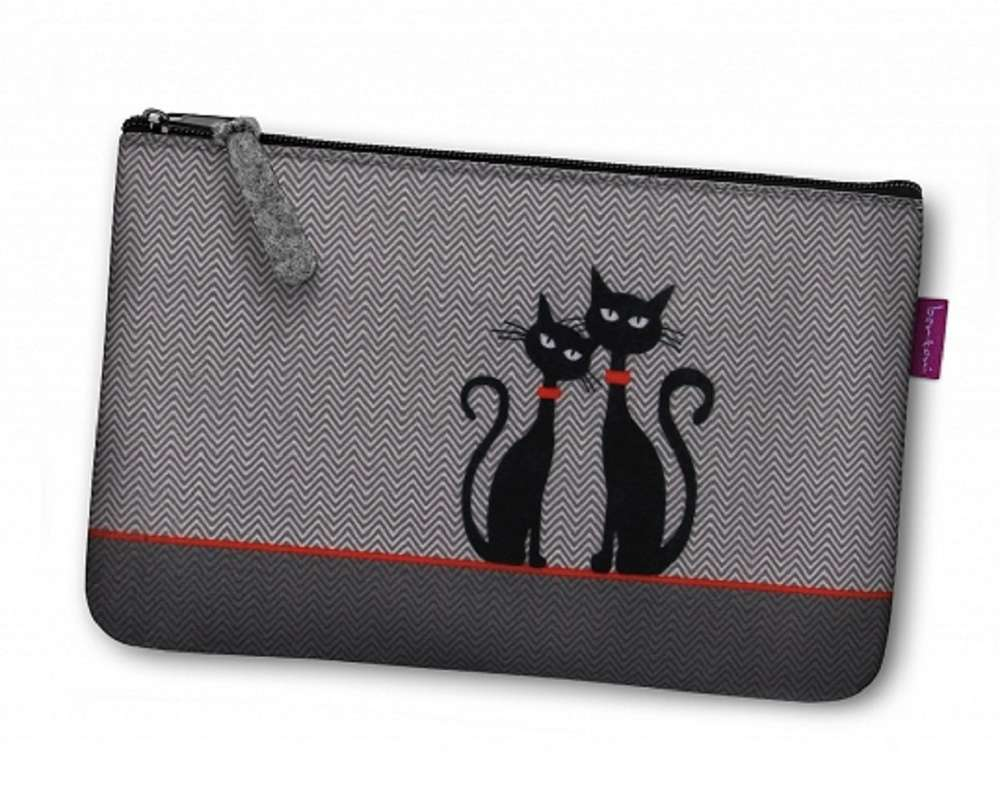 make-up tas zwarte katten