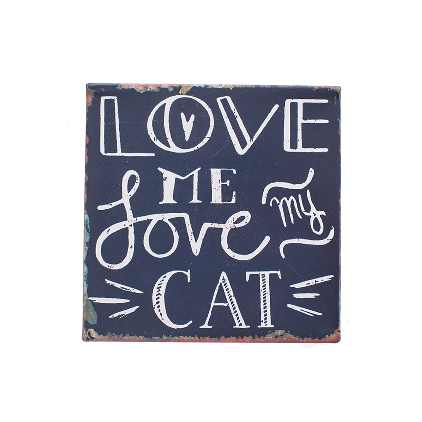 "Magneet ""Love me, Love my Cat"""