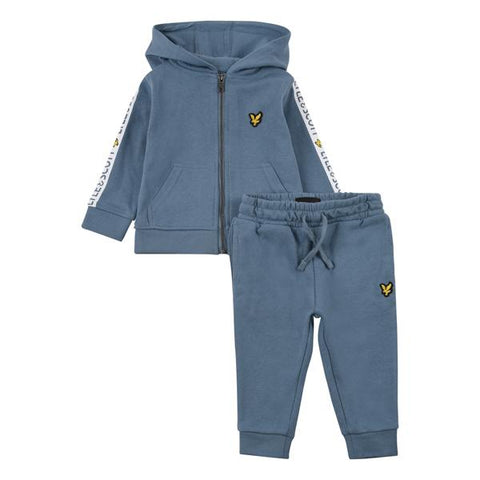 Lyle & Scott Stripe Full-Zip Hooded Tracksuit BabyAlive & Dirty