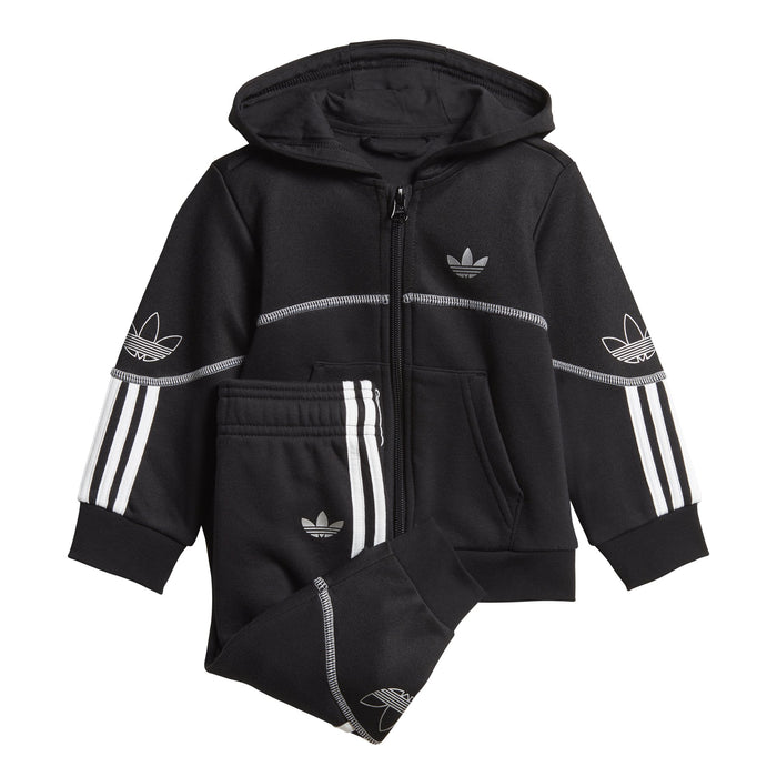adidas Originals Outline Full-Zip Hooded Tracksuit BabyAlive & Dirty