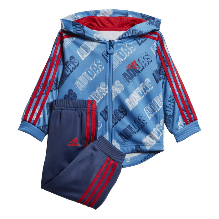 adidas Shiny Full Zip Hooded Suit BabyAlive & Dirty