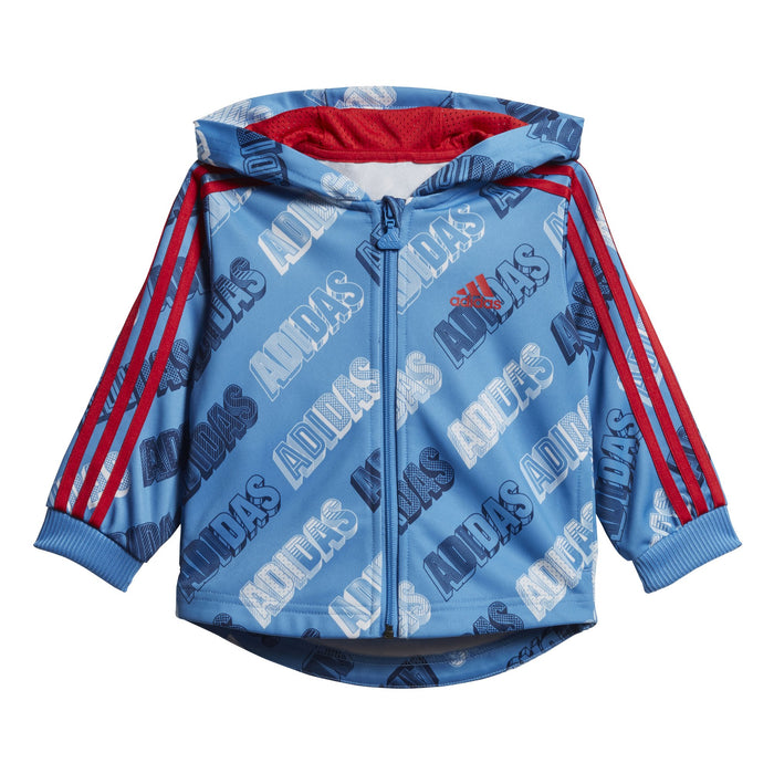 adidas Shiny Full Zip Hooded Tracksuit BabyAlive & Dirty