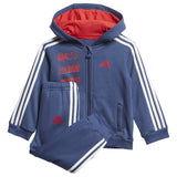 adidas Logo Full-Zip Hooded Tracksuit BabyAlive & Dirty