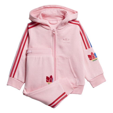 adidas Originals Trefoil Full Zip Hooded Tracksuit BabyAlive & Dirty