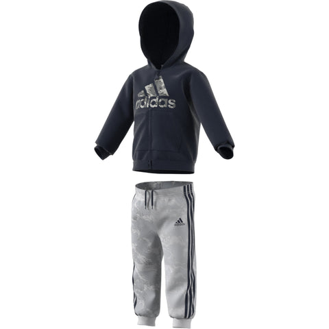 adidas Logo Full Zip Hooded Tracksuit BabyAlive & Dirty