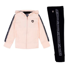 EA7 Small Logo Full-Zip Hooded Tracksuit JuniorAlive & Dirty