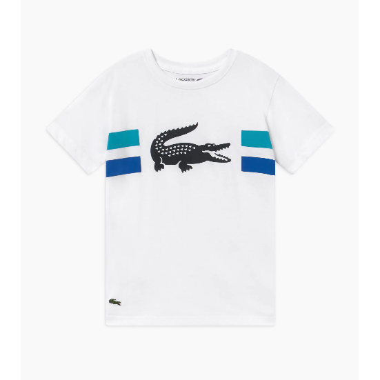 Lacoste Croco W/Stripe Tee JuniorAlive & Dirty