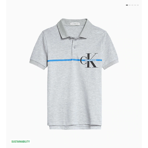 Calvin Klein Mono Stripe Polo JuniorAlive & Dirty