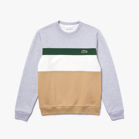 Lacoste Colour Block Stripe Crew Top MenAlive & Dirty