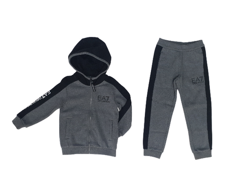 EA7 Block Hooded Tracksuit InfantAlive & Dirty