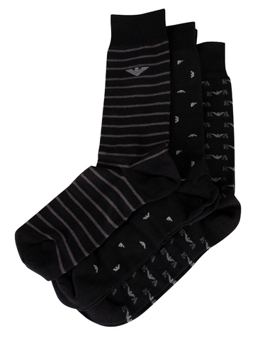 Emporio Armani 3 Pack Short Sock Men - BlackAlive & Dirty