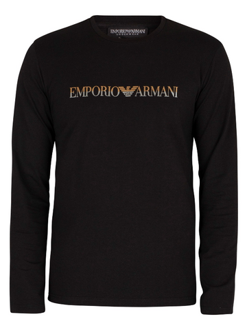 Emporio Armani Cotton Bodywear Long Sleeve T-Shirt MenAlive & Dirty