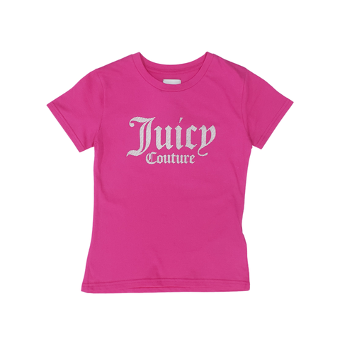 Juicy Couture Juicy Sliced Silver Print T-Shirt JuniorAlive & Dirty