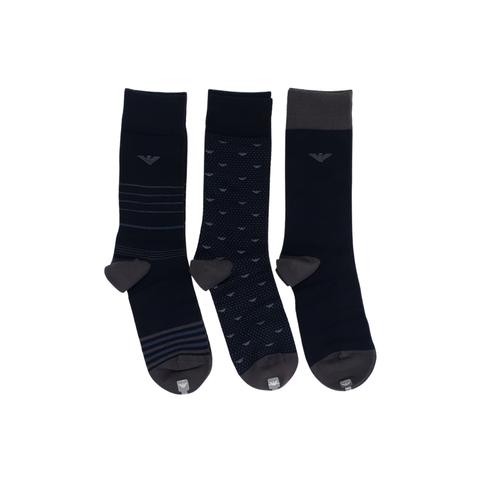 Emporio Armani 3 Pack Short Sock MenAlive & Dirty