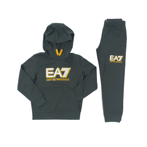 EA7 Core Big Logo OTH Hooded Suit InfantAlive & Dirty