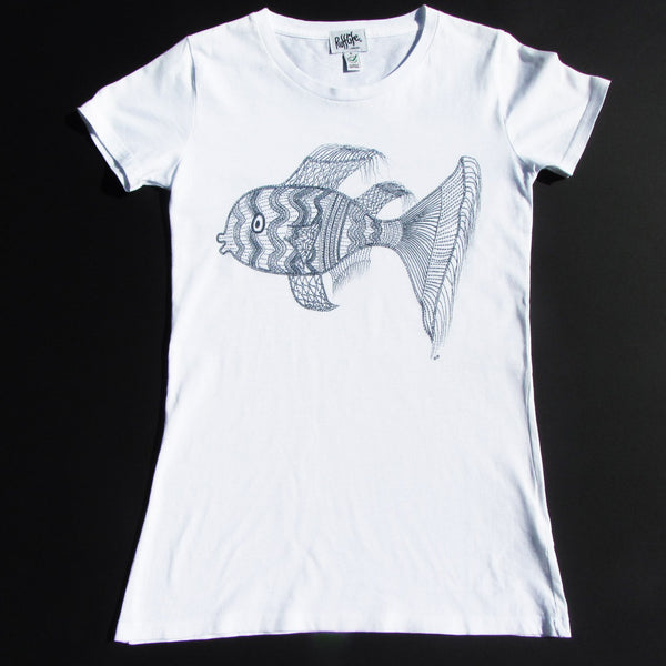 Fancyfish on Women's Tee