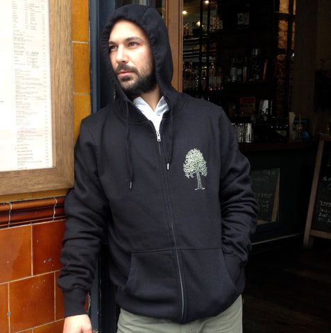 Tree on Men's/Unisex Organic Cotton Zip Hoodie