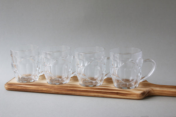 Beer tasting set with wooden paddle