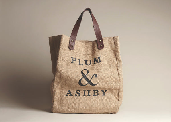 Plum and Ashby jute tote bag shopper everyday bag