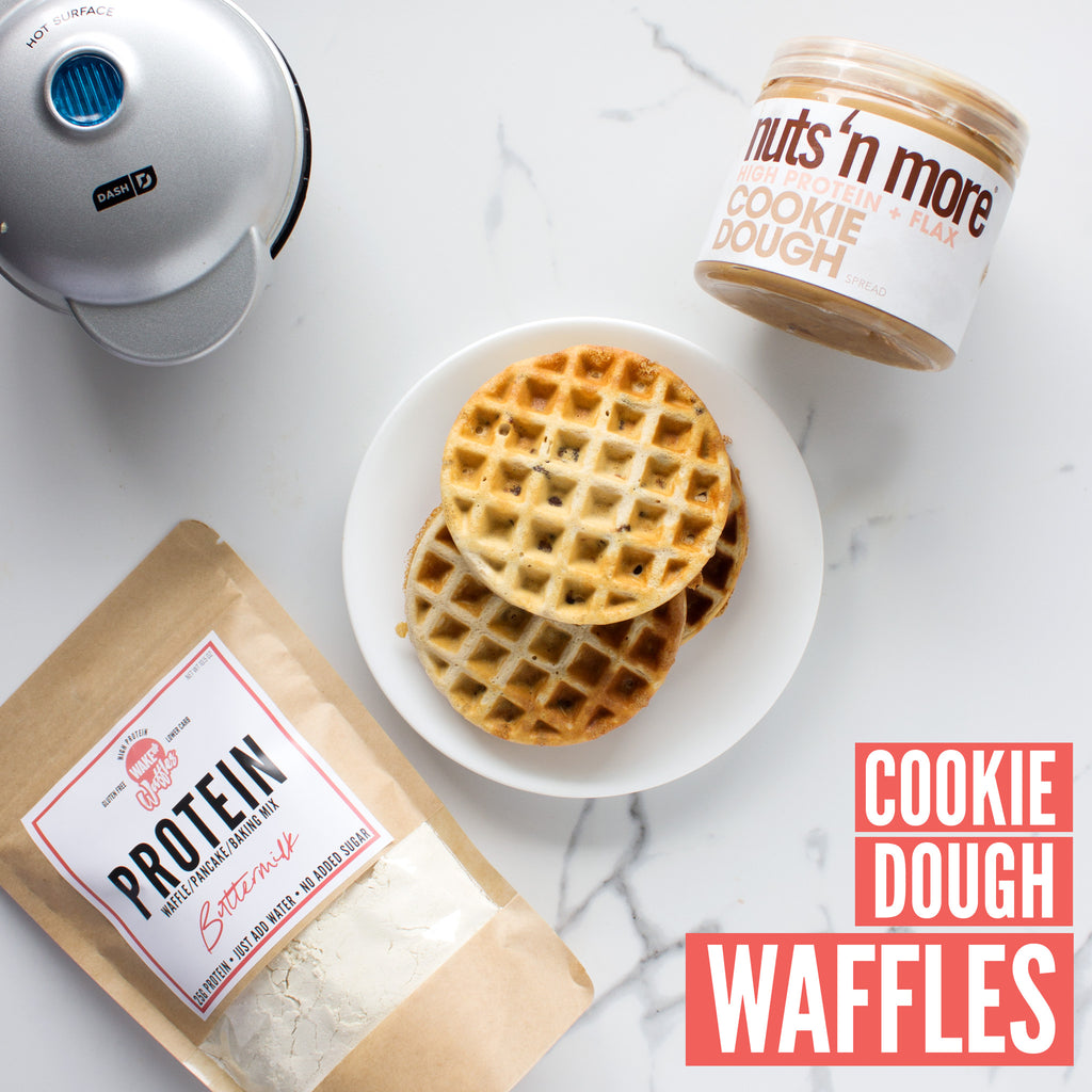 Cookie Dough Protein Waffles