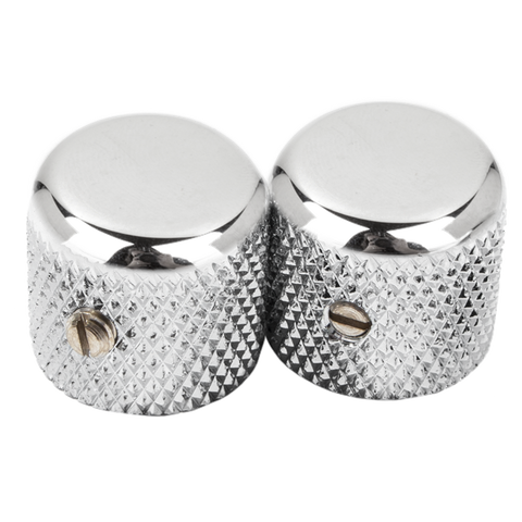 Fender AM VINT 52 Tele Knobs Chrome Set of 2 - Regent Sounds