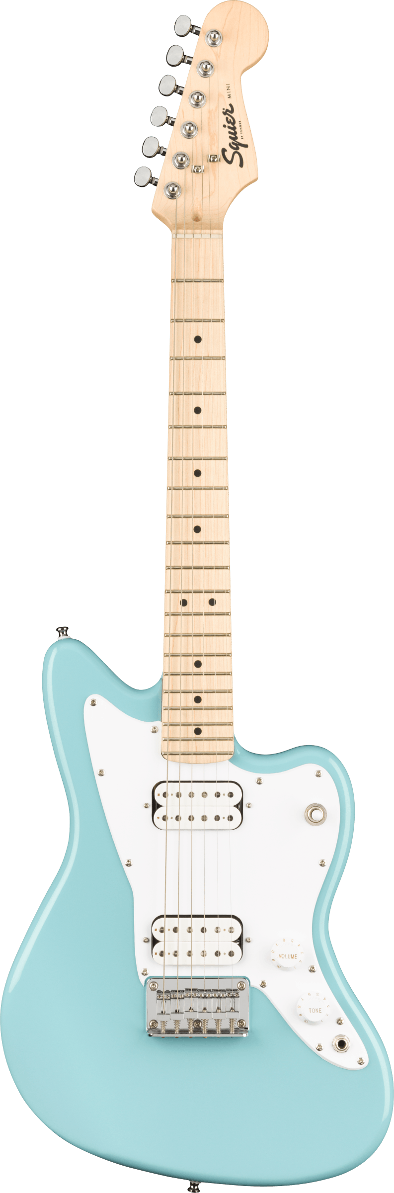 Squier Mini Jazzmaster HH Daphne Blue - Regent Sounds