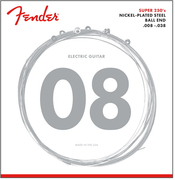 Fender 250XS Nickel Plated Steel Electric Guitar Strings 8-38 - Regent Sounds