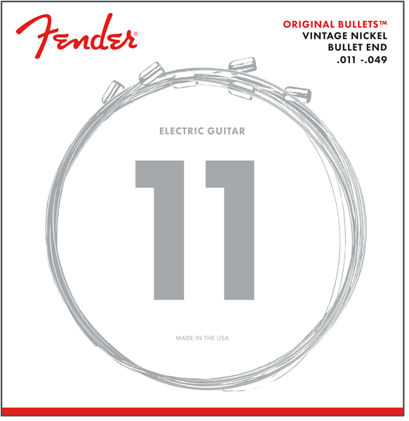 Fender 3150M Original Bullets Pure Nickel Bullet End Electric Guitar Strings 11-49 - Regent Sounds