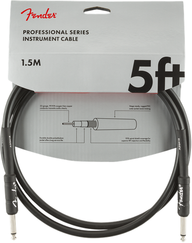 Fender Professional Series 5' Cable Black