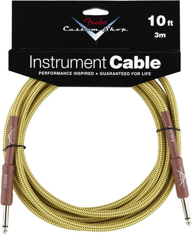 Fender Custom Shop Performance Series Cable 10' Tweed 0990820028 - Regent Sounds