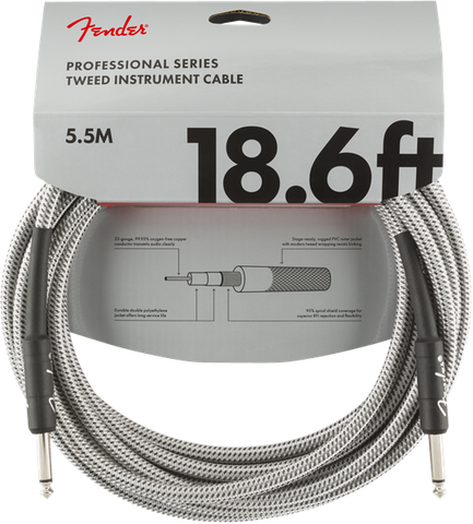 Fender Professional Series 18.6' Cable White Tweed