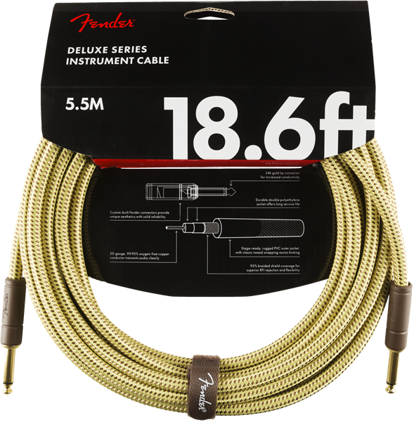 Fender Deluxe Series 18.6' Cable Tweed - Regent Sounds