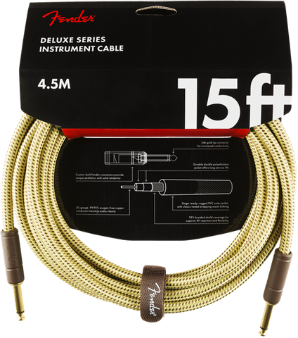Fender Deluxe Series 15' Cable Tweed - Regent Sounds
