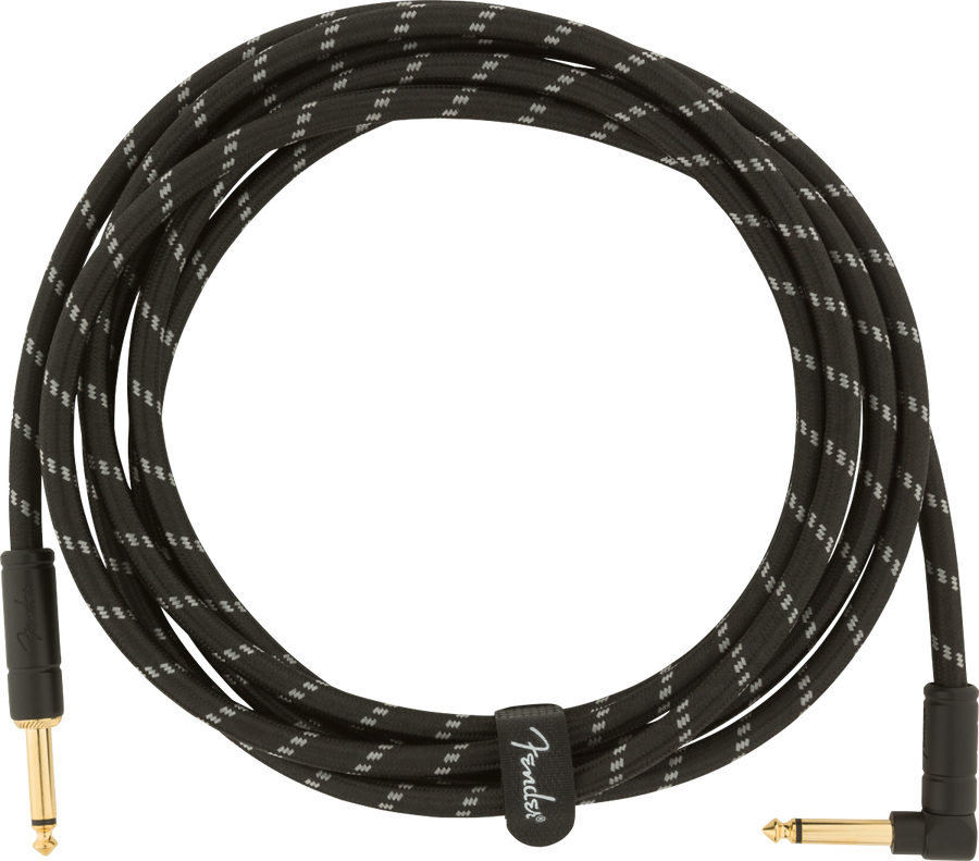 Fender Deluxe Series 10' Cable Angled Black Tweed - Regent Sounds